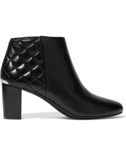 Lucy Paneled Leather Ankle Boots