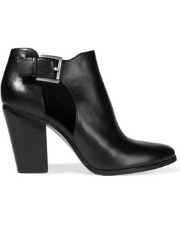 Adams Cutout Leather Ankle Boots