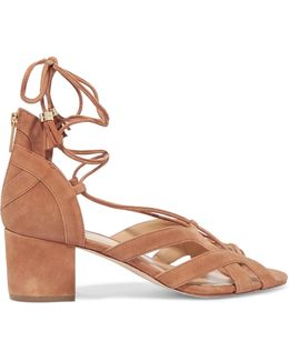 Mirabel Lace-up Suede Sandals