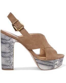 Mariana Suede Platform Sandals