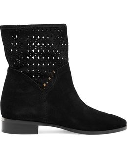 Sunny Laser-cut Nubuck Ankle Boots