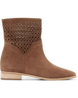 Sunny Laser-cut Suede Ankle Boots