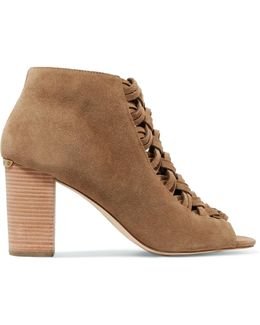 Westley Braided Suede Ankle Boots