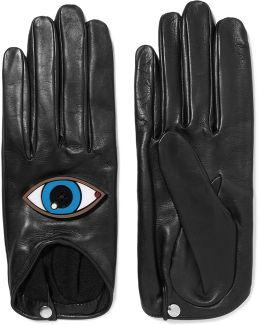 Yazbuckey Embellished Leather Gloves