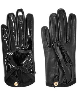 Smooth And Patent-leather Gloves