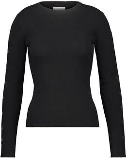 Knox Buttoned Ribbed-knit Merino Wool-blend Sweater