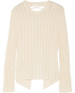 Miguel Lace-up Back Sweater