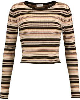 Rene Striped Merino Wool-blend Sweater