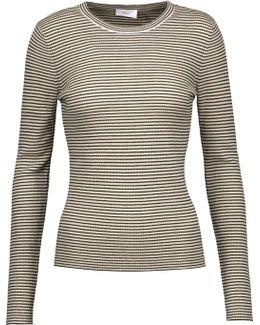 Ruby Striped Ribbed Merino Wool-blend Sweater