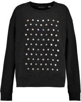 + Disney Embellished Cotton-jersey Sweatshirt
