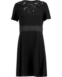 Katia Sequined Satin-trimmed Crepe Mini Dress