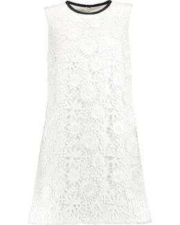 Guipure Cotton-lace Mini Dress
