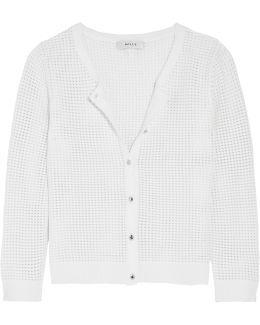 Pointelle-knit Cardigan