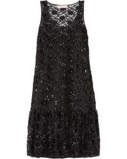 Sequin-embellished Tulle Dress