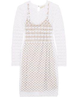 Crocheted Cotton Mini Dress