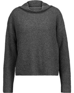 Marled Bouclé-knit Cashmere-blend Sweater