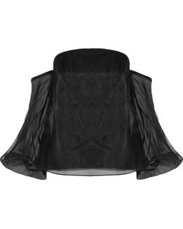 Gloria Off-the-shoulder Silk-organza Top