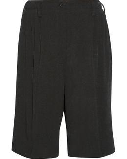 Wool-blend Crepe Shorts