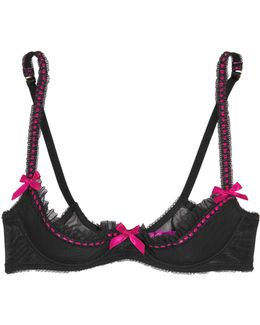 Isi Ruffled Stretch-tulle Push-up Bra