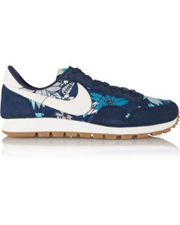 Air Pegasus 83 Suede And Printed Shell Sneakers