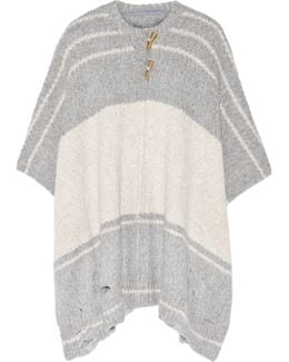 Striped Alpaca-blend Poncho