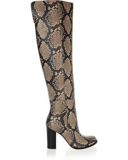 Rylan Snake-effect Leather Over-the-knee Boots
