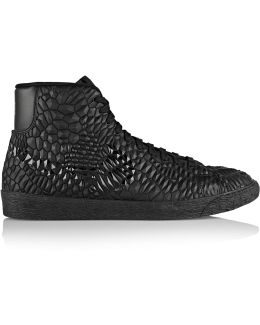 Blazer Mid Diamondback Kurim® Leather High-top Sneakers
