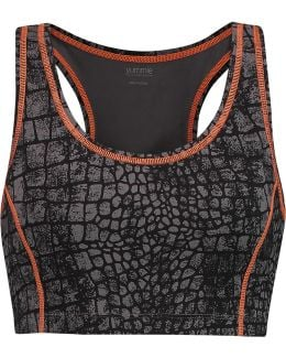 Venus Printed Stretch-jersey Sports Bra