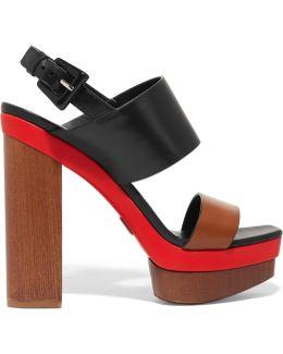 Ettie Color-block Leather Sandals