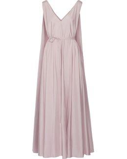 Adabra Silk-poplin Maxi Dress