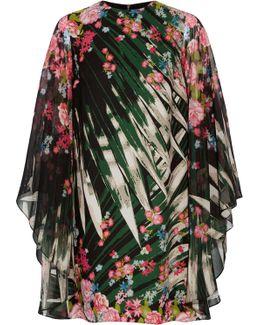 Printed Silk-georgette Mini Dress