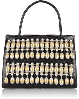 Embellished Glossed-crocodile Tote