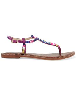 Gail Beaded Leather Sandals