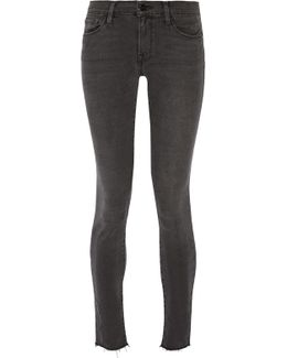 Le Skinny De Jeanne Frayed Mid-rise Jeans