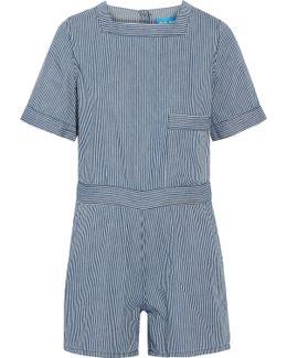 Biarritz Striped Cotton Playsuit