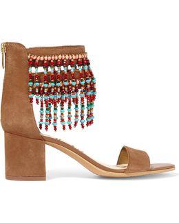 Sibel Embellished Suede Sandals