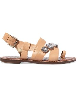 Dailey Embellished Leather Sandals