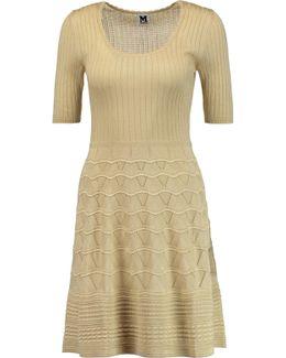 Crochet-knit Cotton-blend Dress
