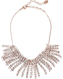 War Of Roses Rose Gold-plated Swarovski Crystal Necklace
