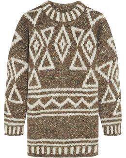 Intarsia Merino Wool, Alpaca And Silk-blend Sweater