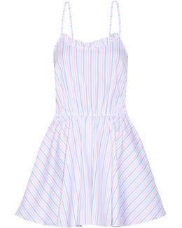 Demi Striped Cotton Oxford Playsuit
