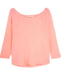 Vintage Whisper Neon Supima Cotton-jersey Top