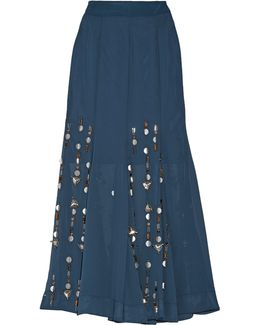 Aria Embellished Georgette Maxi Skirt