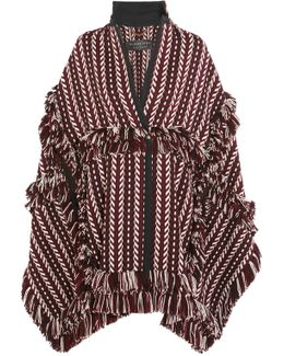 Knit Jacquard Blanket Cape