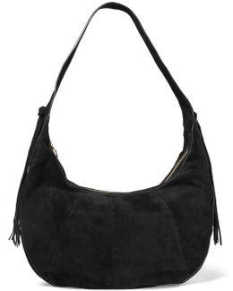 Zoe Large Tasseled Suede Shoulder Bag