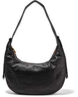 Zoe Large Tasseled Leather Shoulder Bag