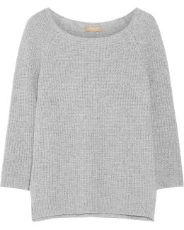 Ribbed Cashmere And Cotton-blend Sweater