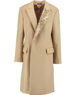 Embellished Wool-blend Coat