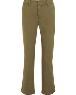 Sammie Cropped Stretch Cotton-twill Straight-leg Pants