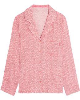 Printed Voile Pajama Shirt